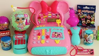 Minnie Mouse toy cash register LOL surprise toys Shimmer & Shine Roblox Minecraft Disney Frozen
