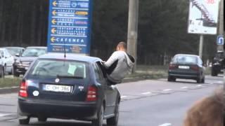 Acrobații cu mașina pe Calea Orheiului #Chișinău