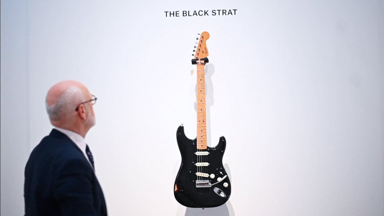 Guitars of Pink Floyd star David Gilmour go on sale at Christie's
