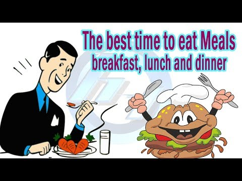 Information about eating Meals | The best time to eat Meals; breakfast, lunch, and dinner