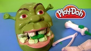 Play Doh Shrek 2 Rotten Root Canal Playset Dentist Dr Drill N Fill Play Dough Comparison toys Review(This is Play-Doh Shrek 2 Rotten Root Canal playset Dreamworks Hasbro toys, but compared to Dentist Playdoh Dr. Drill & Fill it has no electric drill tool., 2013-09-26T18:20:23.000Z)