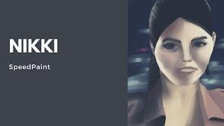 SpeedPaint: Nikki (Emmanuelle Vaugier)