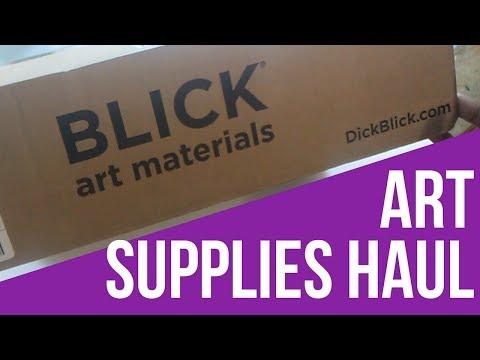 Art Box From Dick Blick Store Haul Youtube