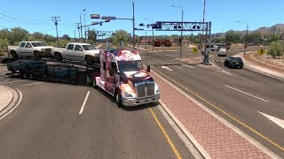 ATS New Mexico DLC Santa Fe - Gallup Gameplay