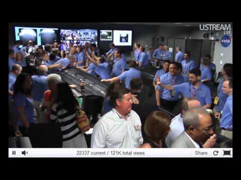 NASA Mars Curiosity Rover Live Video Landing.