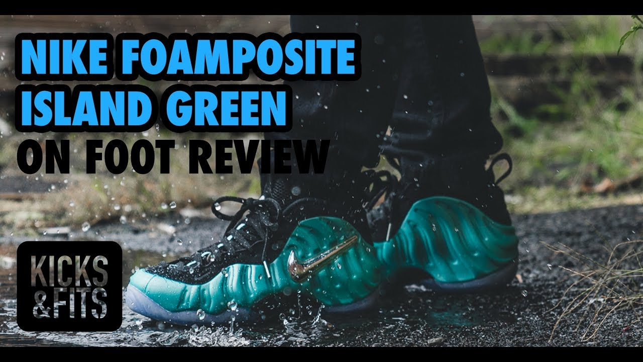 b8354d9942a Nike Air Foamposite Pro  Island Green  ON FOOT Review