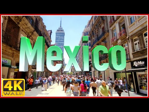 4K WALK MEXICO CITY virtual walk CDMX slow tv TRAVEL VIDEO, documentary