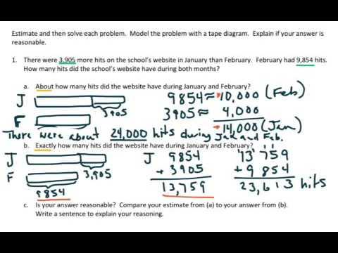 EngageNY Grade 4 Module 1 Lesson 12 - YouTube