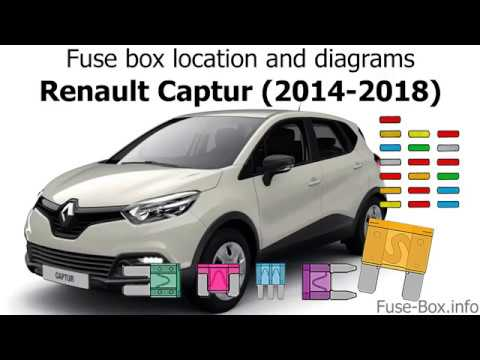 fuse box location and diagrams: renault captur (2014-2018)