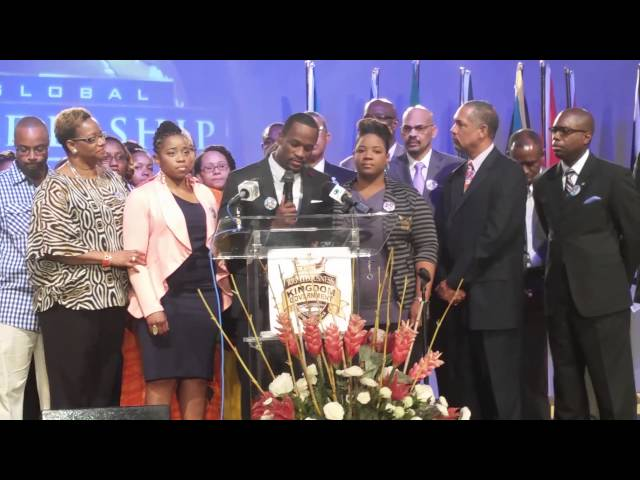 myles munroe s family make statement at press conference the