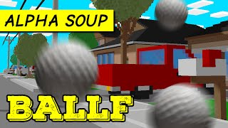 BALLF game: Crazy golf in a town of cubes! | Let's play BALLF part 1 | PC alpha gameplay