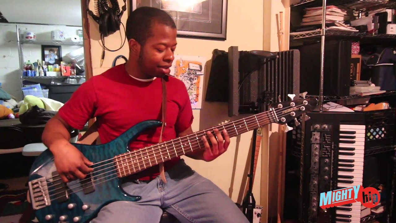 first time on 6 string bass guitar peavey fury vi youtube
