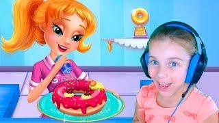 Игра для девочек и мальчиков про готовку Готовим вкусные пончики