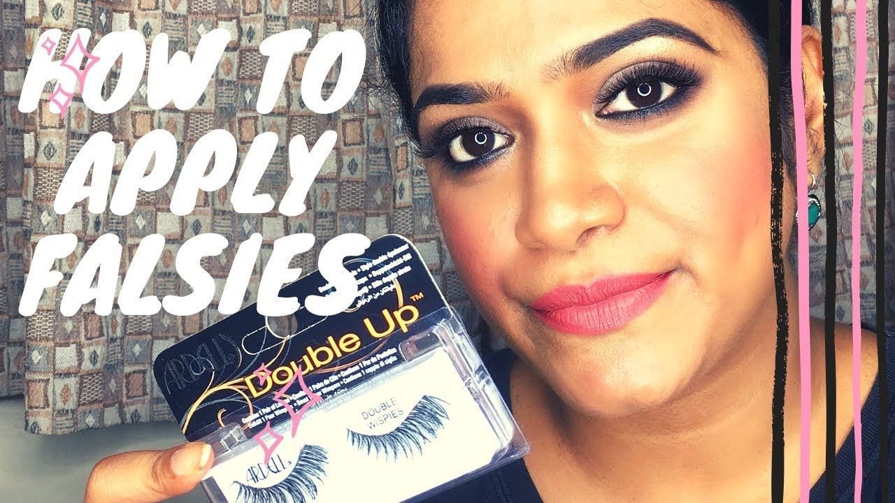 HOW TO | APPLY FALSE LASHES FOR BEGINNERS WITH TIPS ...