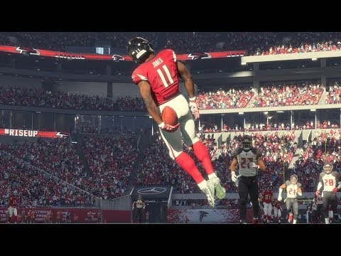 Madden 18 Falcons vs Tampa Bay Buccaneers (New Falcons Mercedes-Benz Stadium) Game Play Xbox One