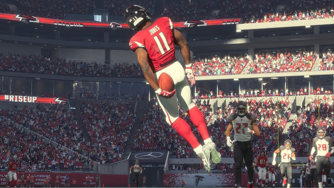 Mercedes Benz Of Tampa >> Madden 18 Falcons vs Tampa Bay Buccaneers (New Falcons Mercedes-Benz Stadium) Game Play Xbox One ...
