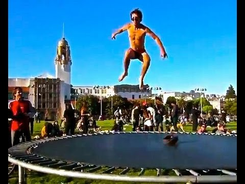 Naked Trampoline Jumping In San Francisco Rawbahs Vlog Day