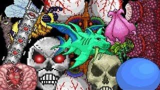 terraria - Все Боссы в Игре . (Смотреть HD) Древнее видео;)