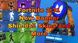 Fortnite 2.31 Update Leaks New Banner Shield, Skins, Emotes and More!!