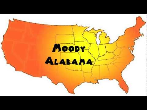 How to Say or Pronounce USA Cities — Moody, Alabama