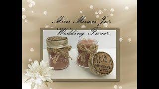 Dollar Tree's DIY Mini Mason Jar Candle!!! Makes for a GREAT Wedding Favor