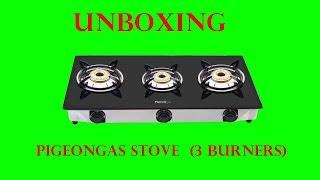 Pigeon Favourite Blackline Manual Gas Stove 3 Burners