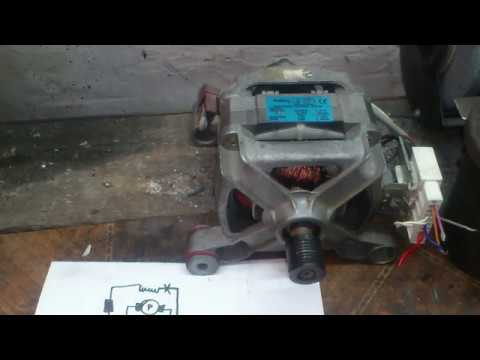 Как подключить двигатель от стиральной машины автомат к 220 видео