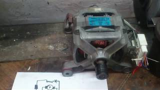 Как подключить мотор стиральной машины к 220в. Схема+пояснение