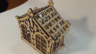 Лазерная резка фанеры. Изготовление чайного домика.(, 2016-01-26T17:56:51.000Z)