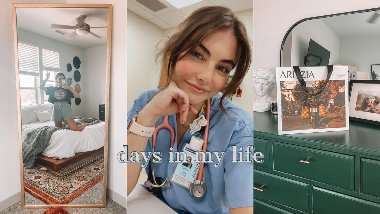 VLOG: a productive monday, getting our new mirror, starting L&D capstone, girls day with tay, etc!