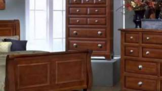 Sunset Sleigh Bedroom Set - Vaughan Bassett