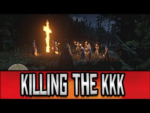Red Dead Redemption 2 - Meeting + Killing the KKK (Klu Klux Klan) // Easter Eggs