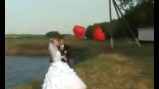 Прикол на свадьбе.Загадали желание.Шарики.
