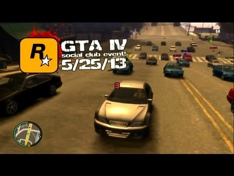 GTA IV - PC - 5/25/13 - Rockstar Games MP Event! - GTA Race x2/RPG DM!
