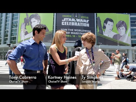 Ty Simpkins Interview  about Jurassic World at the Star Wars Celebration - ChoiceTV Show