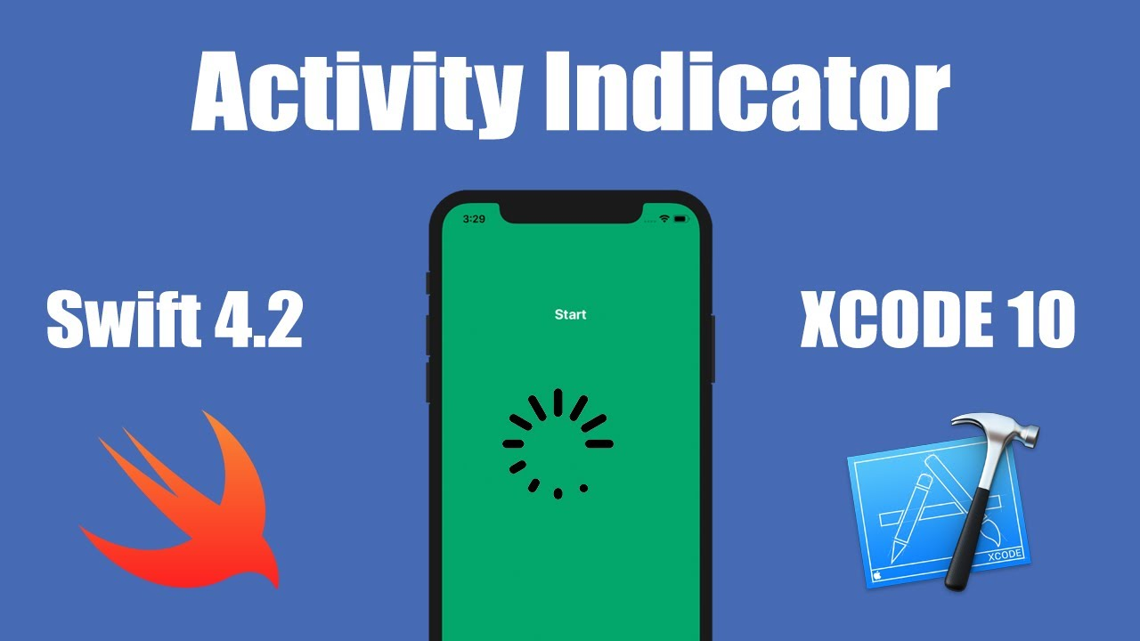 How To Display An Activity Indicator In xCode 10 (Swift 4 2)