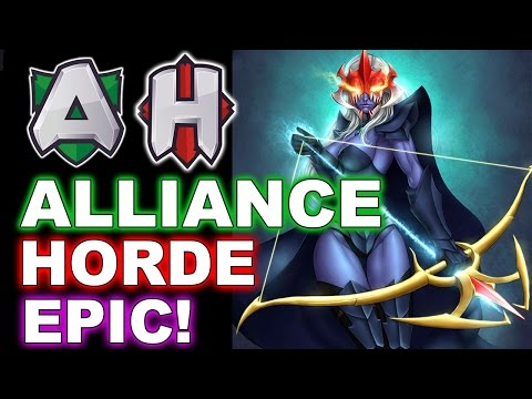 ALLIANCE vs HORDE - EPIC MEGAS Rapiers Base Race! - WESG Dota 2