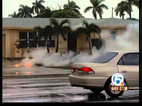 Weather causes down power lines in West Palm Beach