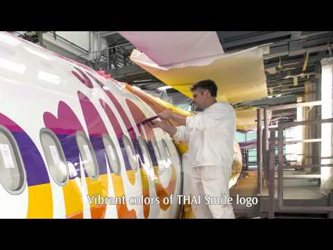Assembling The Smile-THAI Smile's First A320