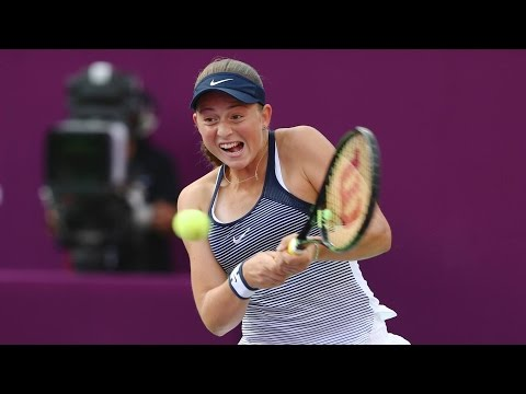 2016 Qatar Total Open Round of 16 | Jelena Ostapenko vs Petra Kvitova | WTA Highlights