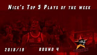 Top 5 plays of the week for round 4, 2018/19 Season