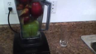 How to make Apple Juice in the Vitamix.
