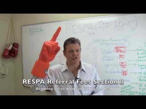 Federal RESPA lawyer referral fees section 8