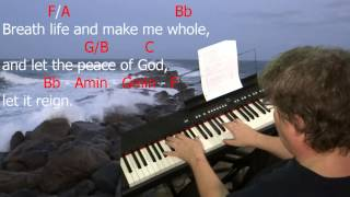 "Learn to Play ""Let the Peace of God Reign"" by Darlene Zschech. Key = F Major."