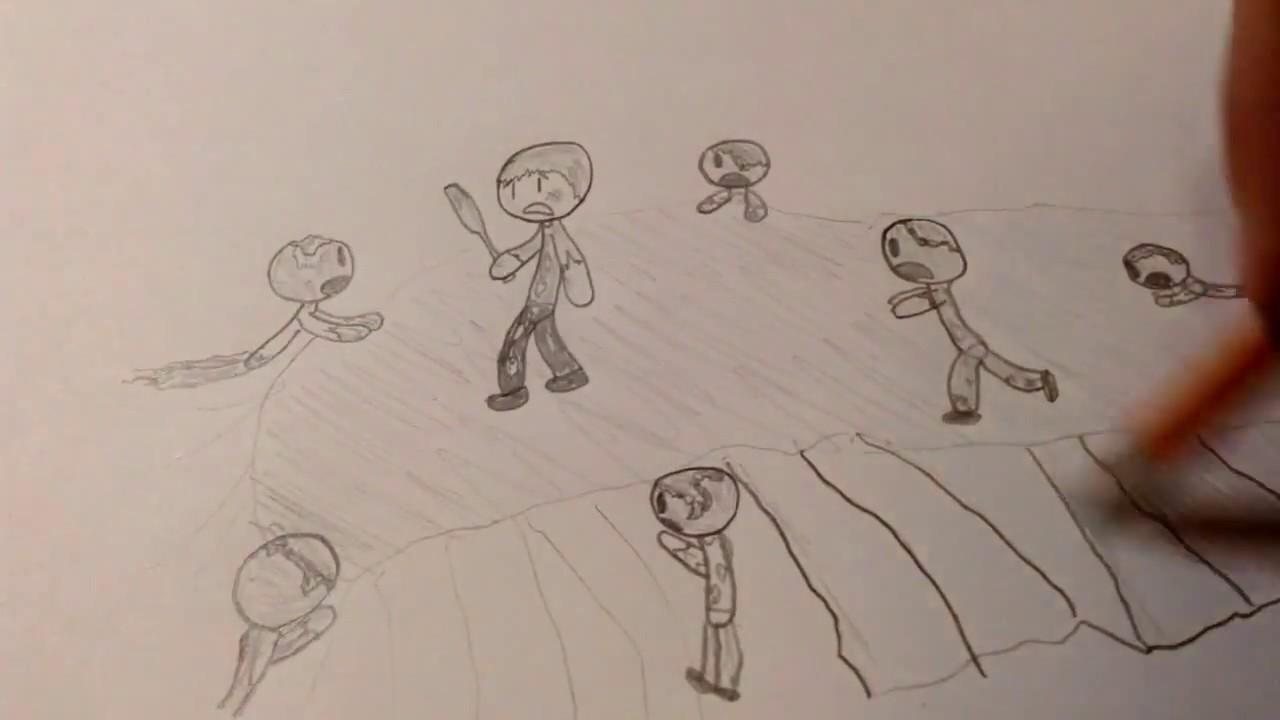 Zombie Apocalypse Drawing 3 Youtube