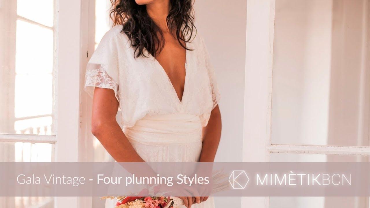8c8d5bb4aa8 Gala Vintage Wedding dress Mimetik - Four plunning styles 01 - YouTube