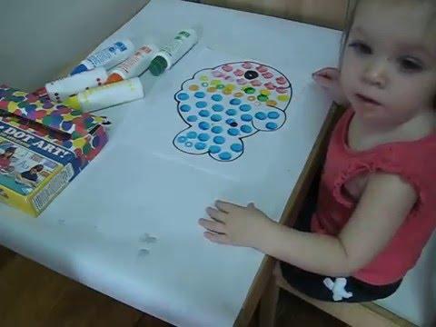 Развивающие занятие для детей от 1 до 2 лет. Раскраски для ...
