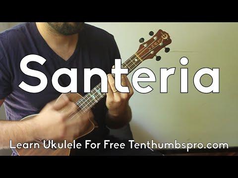 Santeria - Sublime - How to play Ukulele song Tutorial - Learn Easy Ukulele