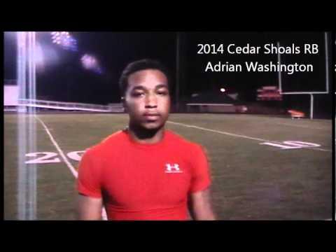 Adrian Washington 2014 Cedar Shoals RB