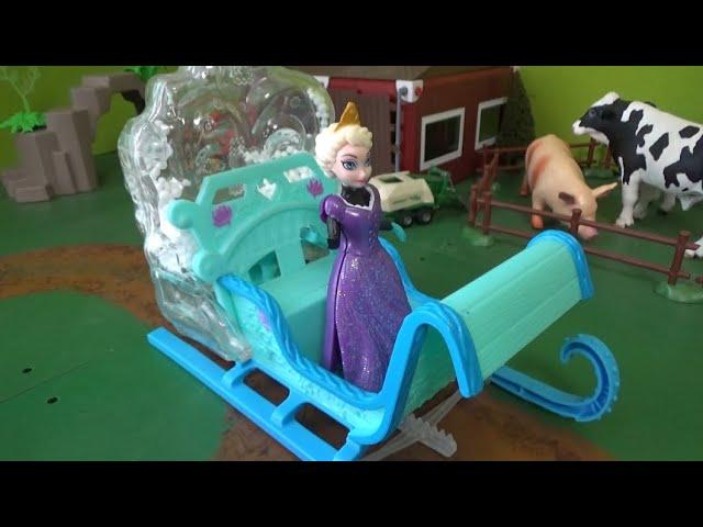 썰매를 탄 엘사 공주, 겨울왕국 Princess Elsa on a sled, Frozen